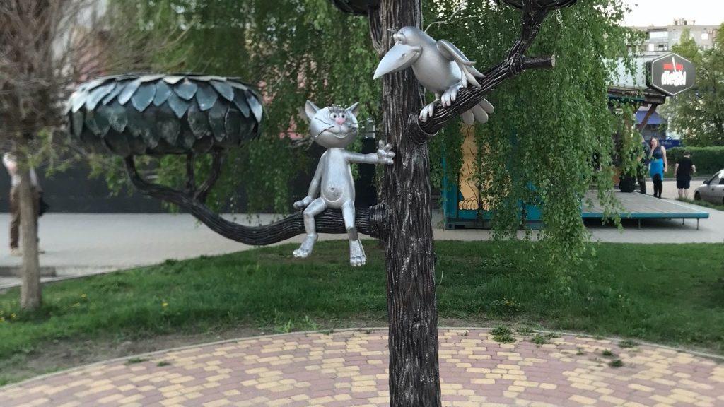 Автопутешествие Москва - Волгоград. Воронеж. Памятник Котенку с улицы Лизюкова.