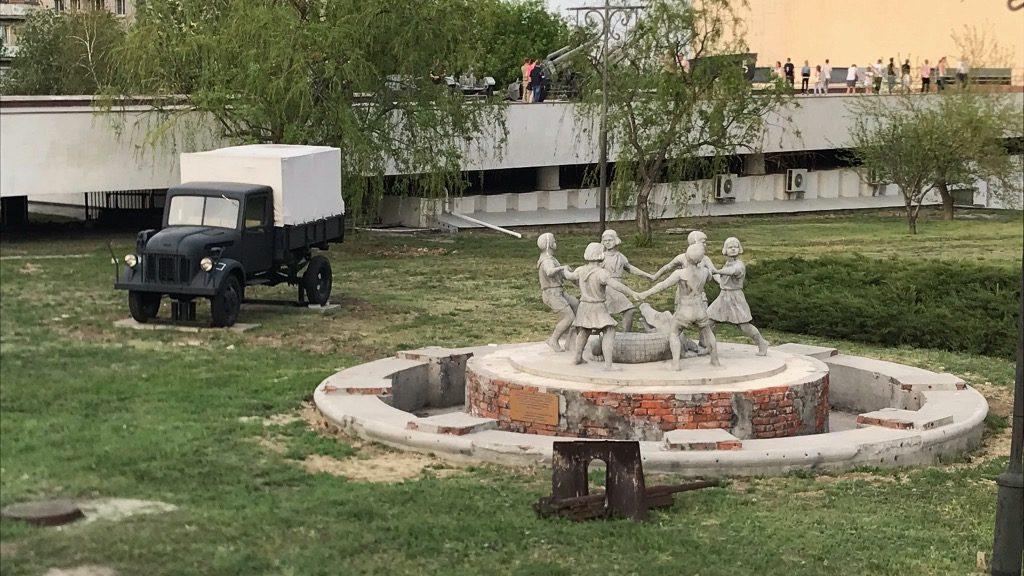 Автопутешествие Москва - Волгоград. Фонтан Бармалей