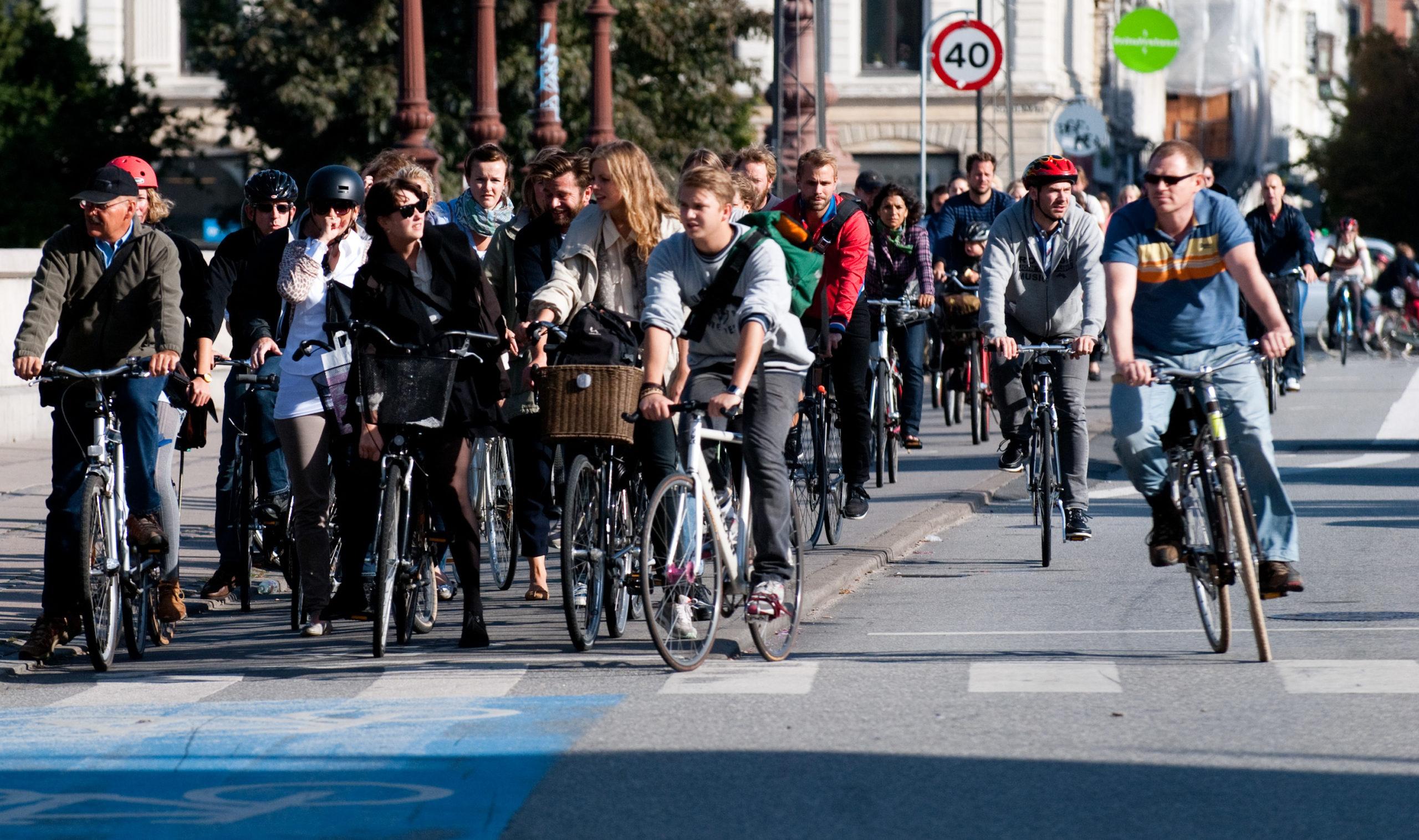 Велосипедисты в Дании