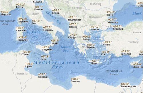 температура воздуха в Европе (сентябрь)