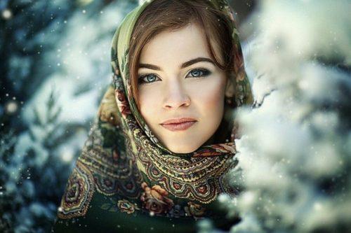 Красивая девушка из России