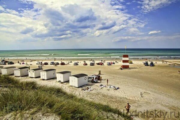 Пляж в Дании