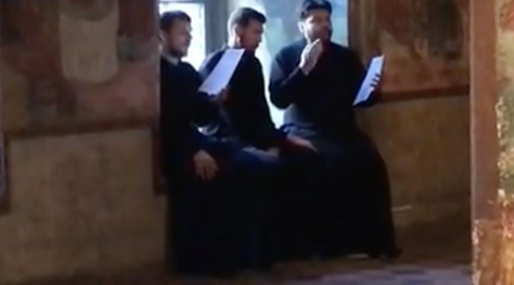 Хор церковнослужителей в Храме Ильи Пророка в Ярославле